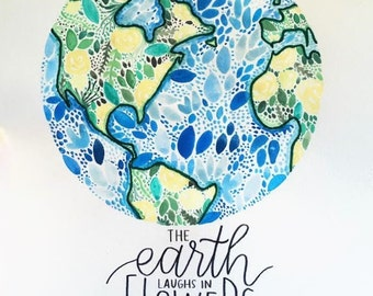 Floral Watercolor Earth