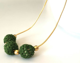 Handmade beaded necklace handmade green, crochet beaded necklace, crochet necklace, beaded necklace handmade, statement necklaces no links.
