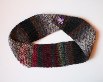 Pebbleberry No-Wrap Knit Infinity Scarf