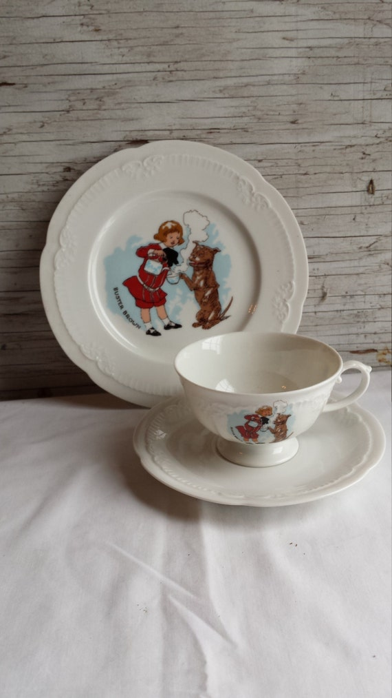 "Vintage Franconia Krautheim K&A ""BUSTER BROWN"" Sandwich Plate, Cup and Saucer"