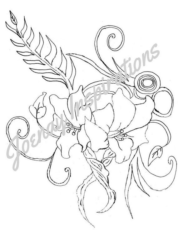 Adult Coloring Book, Printable Coloring Pages, Coloring Pages, Coloring Book for Adults, Instant Download, Fancy Flowers 2 page 4