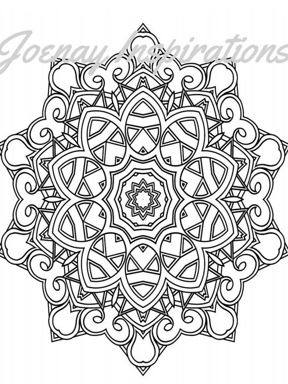 Adult Coloring Book, Printable Coloring Pages, Coloring Pages, Coloring Book for Adults, Instant Download Magnificent Mandalas 3 page 7