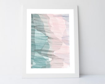 Teal pink wall art, abstract artwork, printable art, teal wall decor, pink wall art, modern wall prints, teal pink print, abstract print