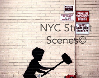 NYC Graffiti - Strength - New York Street Art©
