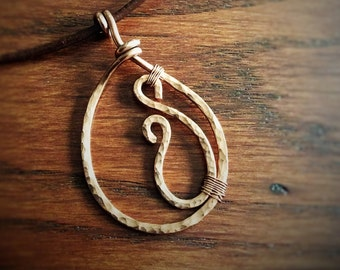 Handmade Copper Teardrop Pendant