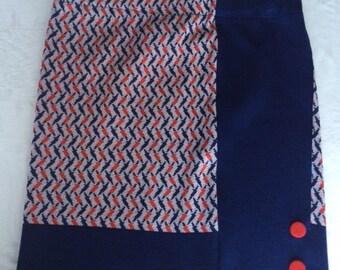Mod Skirt, Vintage Fabric