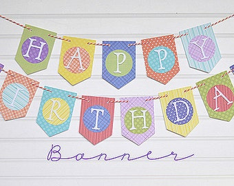 Custom Birthday Banner (Your Choice) or Choose your Own Design.