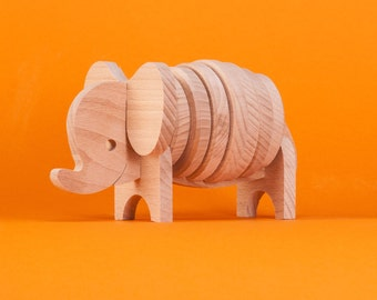 Puzzle - Elephant wooden puzzle, Matching Game