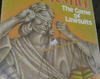 Blind Justice, The Game of Lawsuits, Avalon Hill, 1989 Bookcase Game, Vintage Board Game, Legal Game, Strategy, Gamer, Geekery, Attorney