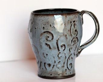 Her Stormy Blue Beer Mug