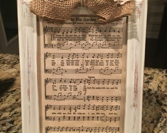 Distressed Picture Frame - Vintage Hymnal