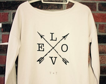 LOVE on Arrows Terry Scoopneck Shirt