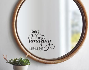 You Are Amazing Wall Decal Wall Decal Quote Wall Words Wall Decor  Part 88