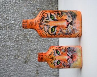"""Bottle vase """"Tigers"""""""