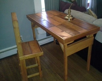 One of a Kind Desk and Chair