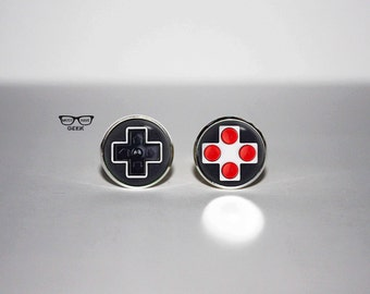 Game controller earrings, Joystick stud earrings, Videogames Console earrings, Art Gifts, fan gift