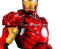 Marvels Iron Man, Avengers, Captain America: Civil war A3 art Print Colour Pencil
