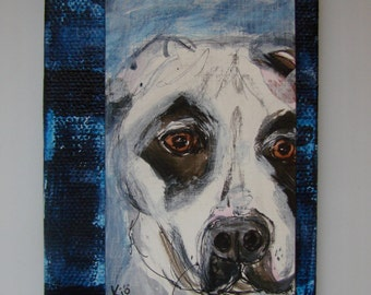 Scully, North Carolina Day 29, DogADay Painting