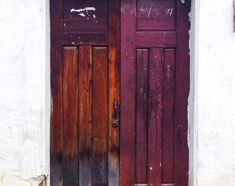 Multi-color door, Guatemala, Travel, Color Photographic Print