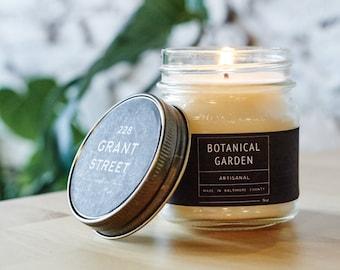 8oz Botanical Garden Mason Jar Scented Soy Candle