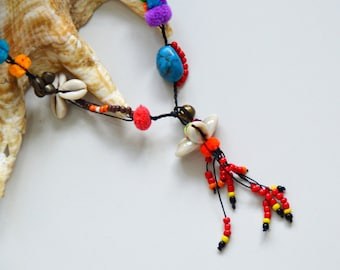 4. Pompom Necklace