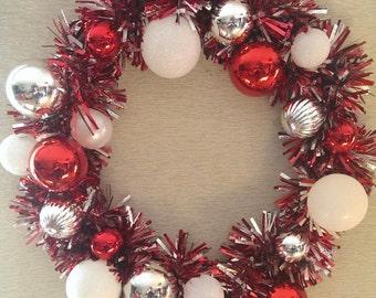 Candy Cane Garland Wreath