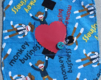 Sock Monkey Love Nap with Dry Erase Marker