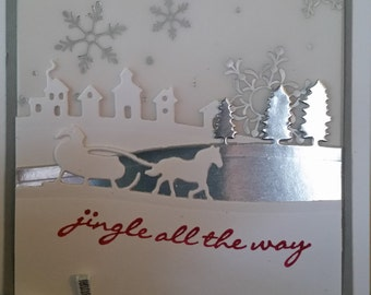 Jingle All the Way Winter Holiday greeting card - set of ten