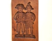 Dutch hand carved wooden speculaas mold #169A642X10