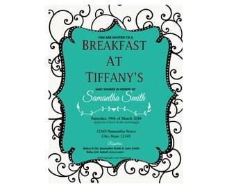 Breakfast at Tiffany's Baby Shower Invite