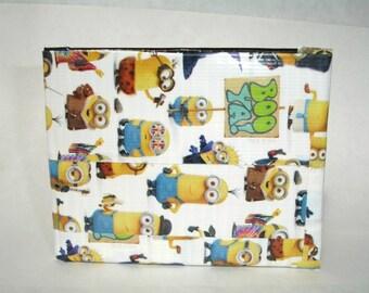 Bifold Duct Tape Wallet - Minions - Black - White - Yellow - ID Pocket - Billfold