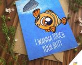 FINDING NEMO CARD Pun Funny Punny Clown Fish Marlin Finding Dory Ocean Pixar Disney Anniversary Birthday Card Girlfriend Boyfriend Cute