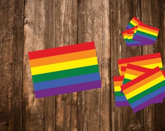 LGBT Flag Stickers - LGBTQ pride - Gay Rights Stickers - Equality Gay Sticker - Queer/Lesbian/Trans/Gay Gift - Gay Flag - Yes Homo/Love Wins