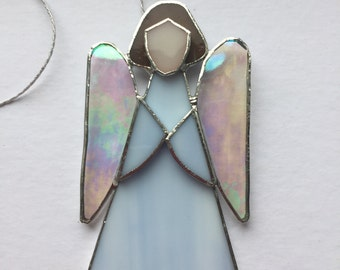 Pale blue Angel in Tiffany technique