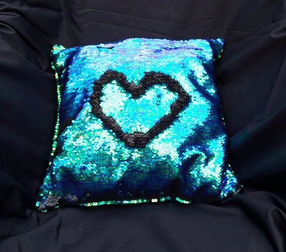 Mermaid Pillow Decorative Sequin Two Toned by EsotericRhythms