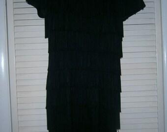 Black Fringe Dress Size 5/6