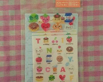 Q-Lia Tiny Cafe Kawaii mini letter set Rare