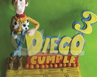 Toy Story Cake topper / toy story party / figure woody, buzz / Topper happy birthday / woody centrepiece