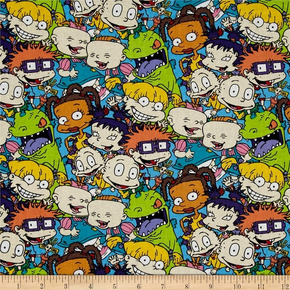 Rugrats fabric yardage or fat quarter cartoon fabric for Kids character fabric