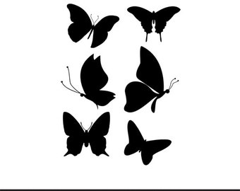 butterflies silhouette svg dxf file instant download silhouette cameo cricut clip art