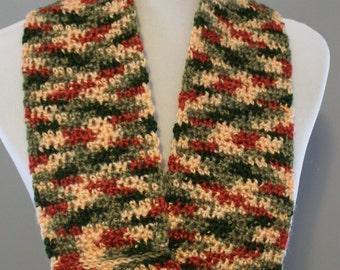 Garden Infinity Scarf,  Crochet Infinity Scarf, Multicolor Scarf