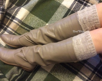 The cuffs , socks , women's accessories, warm feet , decoration for boots , slender legs , leggings , color choice
