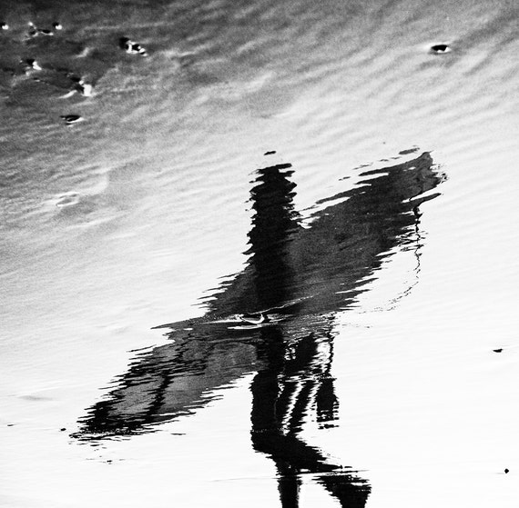 Reflected Surfer,black and white print,surfing print,limited edition print,monochrome print