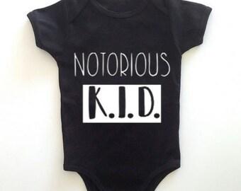 Notorious K.I.D. Short Sleeve Onesie