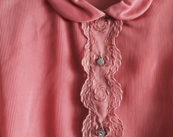 1950s Pink Blouse