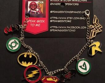 DC Justice League Charm Bracelet!