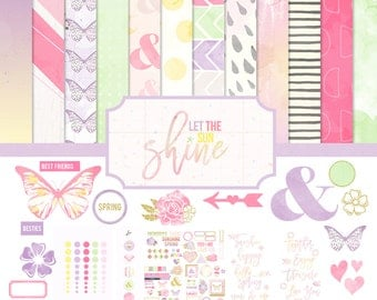 Let The Sun Shine Digital / Printable Full Scrapbooking Collection
