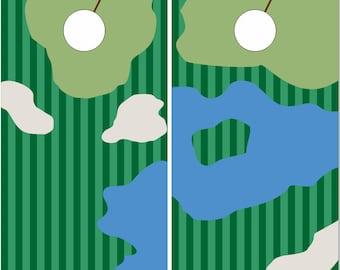Golf Course Cornhole Wrap Bag Toss Decal Baggo Skin Sticker Wraps