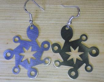 Earrings abstract design model star