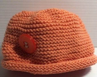 Baby hat with flat top